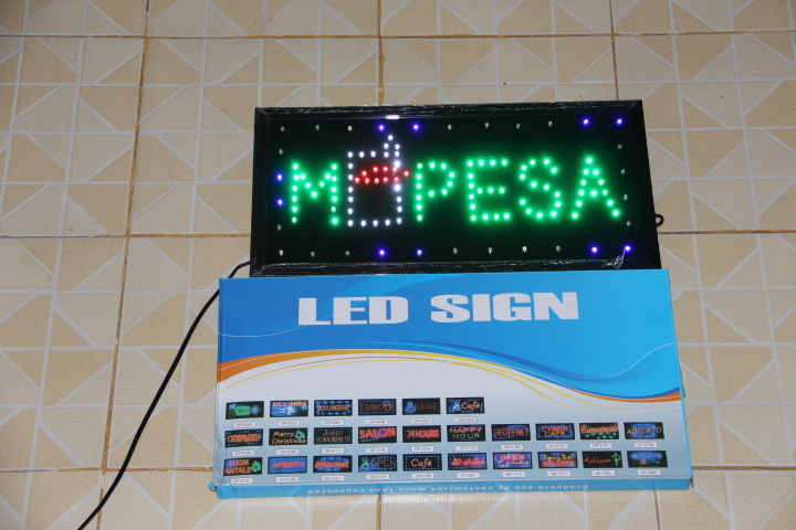 Ultra Bright LED Sign OPEN Animated Signs MPESA SAFARICOM KCB advertising  Lighting