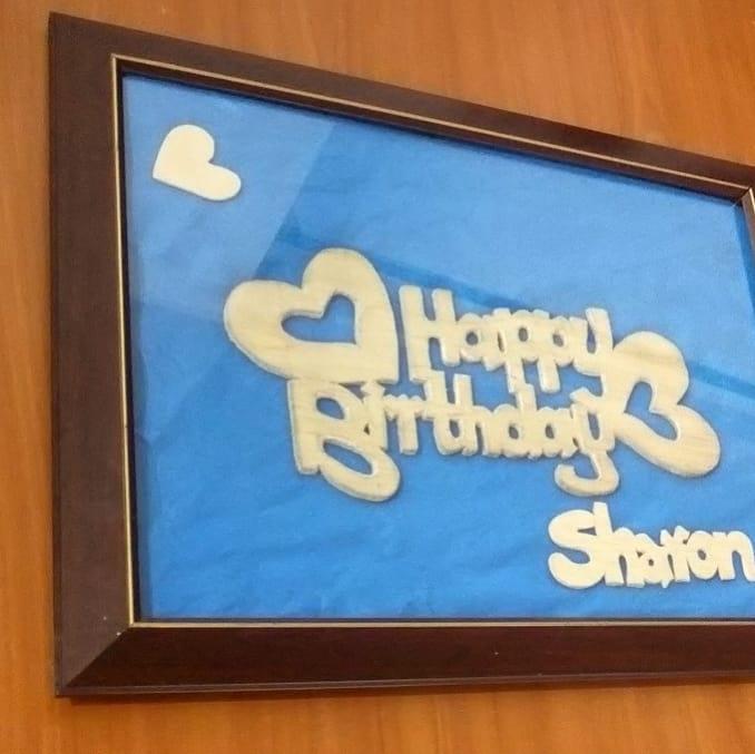 Happy Birthday gift framed A3 size
